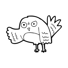 angry line drawing cartoon  bird