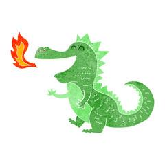 cartoon fire breathing dragon