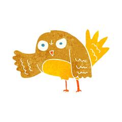 angry cartoon bird