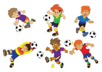 Sport football cartoon vector soccer