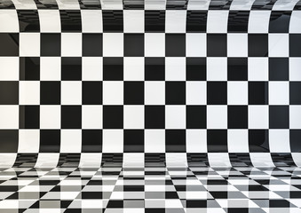 checker board room