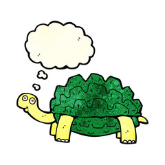 cartoon tortoise with thought bubble