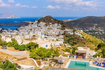 Chora town, Ios island, Cyclades, Greece.