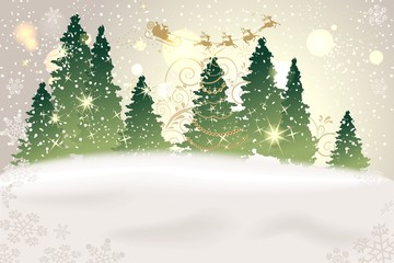 weihnachtlicher Winterwald