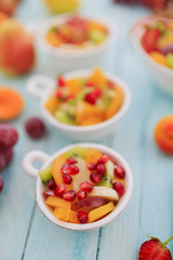 Fruit salad - diet, healthy breakfast, weight loss concept
