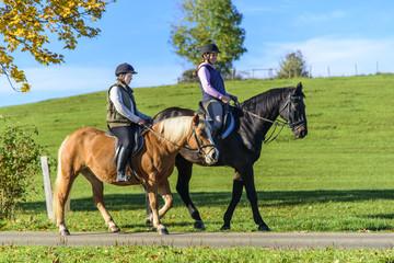 raus in die Natur mit dem Pferd
