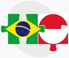 Brazil and Greenland Flags
