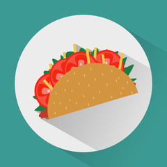 Taco colorful round icon