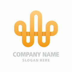 initial W Queen Crown Luxury Royal Elegant classic Logo