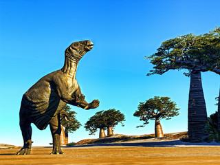 Huge prehistoric dinosaur