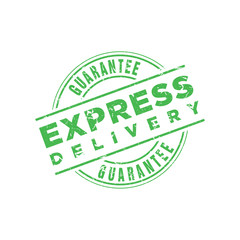 Vector Express Delivery Guarantee stamp
