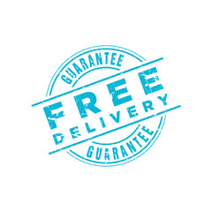 Vector Free Delivery Guarantee stamp