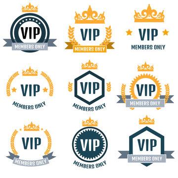 VIP Club members only logo set