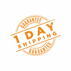 Vector 1 Day Shipping Guarantee stamp