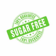 Vector Sugar Free Guarantee stamp