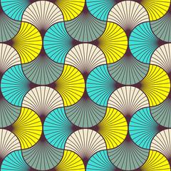 multicolored art deco pattern