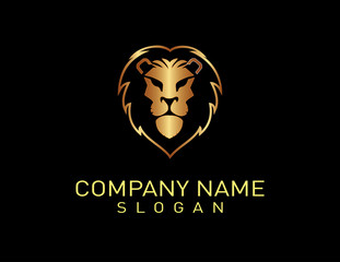 Lion logo 2 Black Background