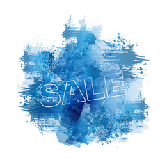 SALE | Abstract Blue Watercolour Painting