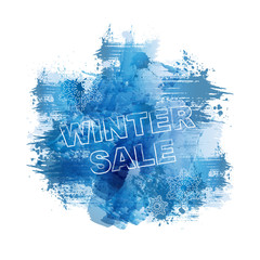 WINTER SALE | Abstract Blue Watercolour Painting