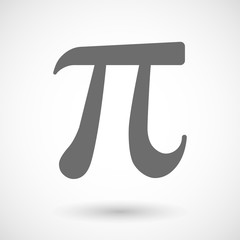 Illustration of the number pi symbol