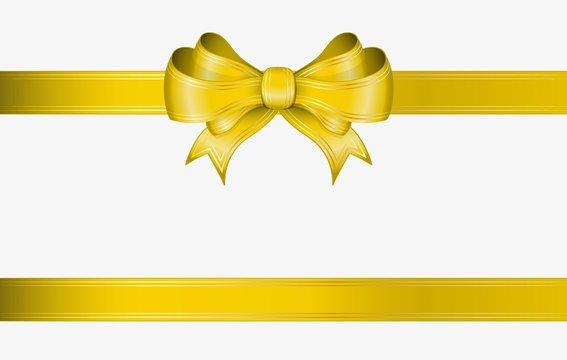 yellow ribbon and bow