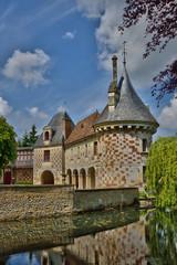France, picturesque castle of Saint Germain de Livet