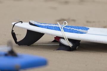 Detail of surfboard