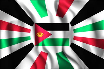 Jordan Variant Flag. Rectangular Shape Icon