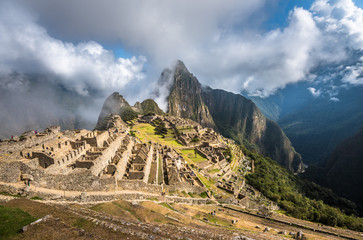 Machu Picchu, UNESCO World Heritage Site. One of the New Seven W