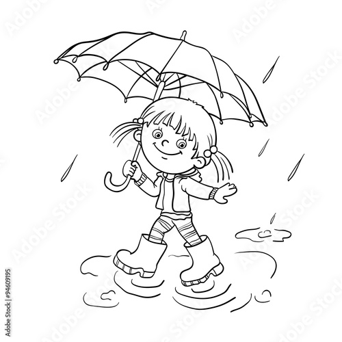 quot Coloring Page Outline Of a girl