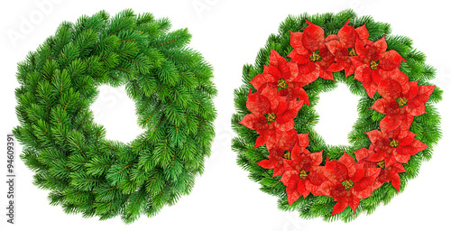 Christmas wreath red poinsettia flowers decoration for 5ft poinsettia garland christmas decoration