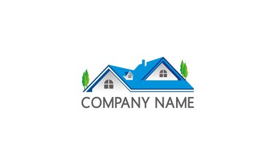 home roof construction company logo