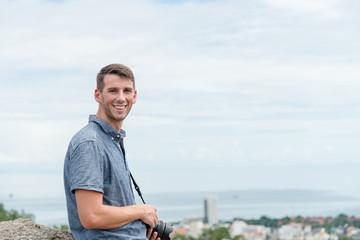 Traveller enjoying view point at Hua Hin, Thailand.