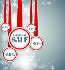 Christmas SALE Concept  Background Vector Illustration