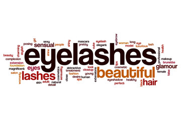 Eye lashes word cloud concept