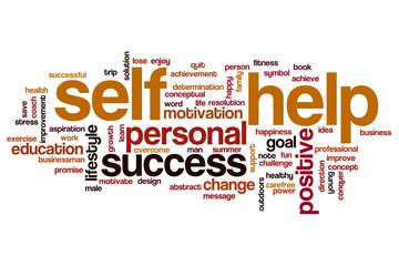 Self help word cloud concept