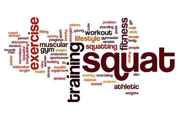 Squat word cloud concept