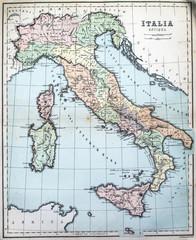 19th Century map of Roman Italy