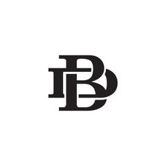 Obraz Letter D and B monogram logo - fototapety do salonu