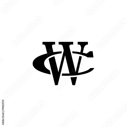 Letter C And W Monogram Logo