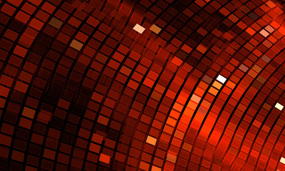 Abstract mosaic background. Bright red disco fractal