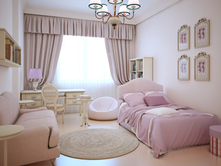 Urban apartment - cute pink girl's room