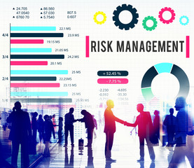 Poster de jardin Arc en ciel Risk Management Unsteady Safety Security Concept