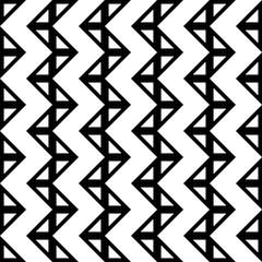 Vector modern seamless geometry pattern chevron, black and white abstract geometric background, trendy print, monochrome retro texture, hipster fashion design