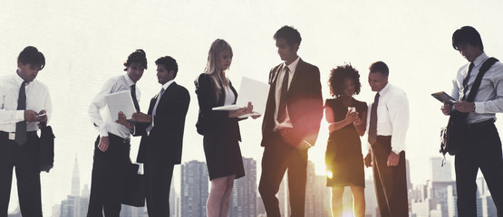 Business People New York Working Concept