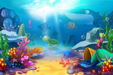 Illustration: The Happy Ocean World - Scene Design
