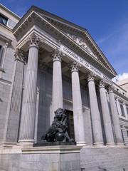Building of the Chamber of Deputies, Madrid (Spain)