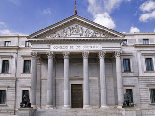 Building of the Chamber of Deputies, Madrid (Spain)