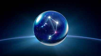 starry night star crystal ball of Horoscopes and Zodiac Signs