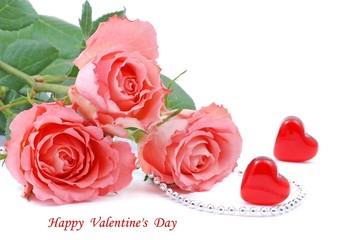Rose, Rosenstrauss für  Valentinstag.